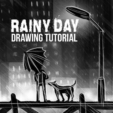 rainy day drawing tutorial