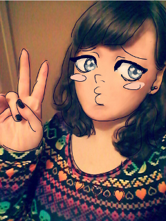 selfie me artisticselfie anime selfportrait