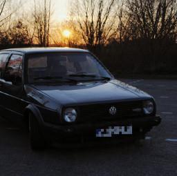 golf2 mk2 vw volkswagen sundown