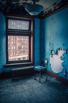 abandoned urbex urbanexploration detroit blue farwell lonelychair beautifypicsart fineart