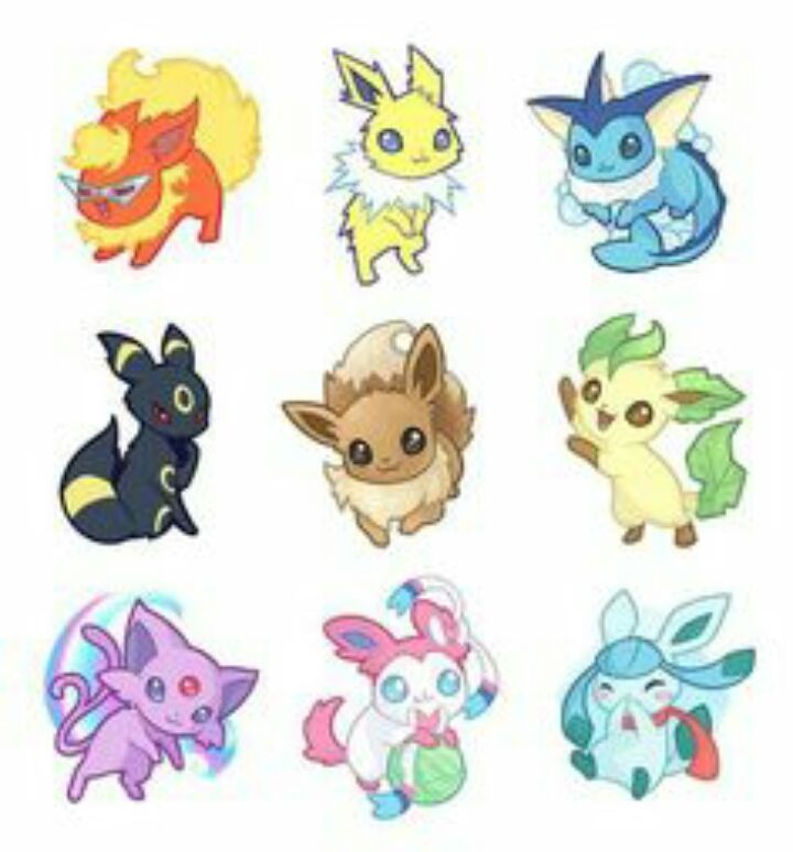 Chibi eeveelutions! Comment which one is your favorite!...