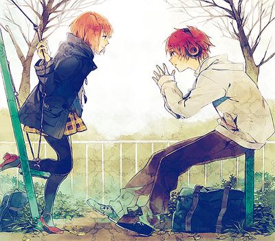 Best Friends~ Boy Girl Park Anime Hangingout Possiblesi