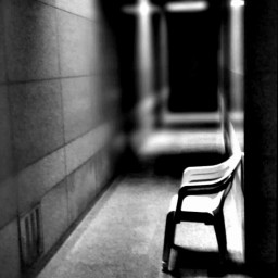 blackandwhite edited photography hallway obscure