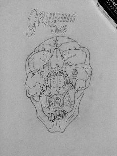 drawing sketch skull