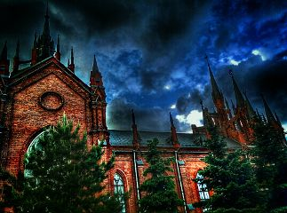 colorful emotions cathedral soul sky