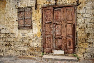 greek photography rhodos doors broken