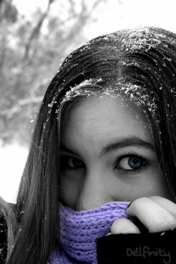 #Colorsplash #Blueeyes #Selfie #Snow #Winter