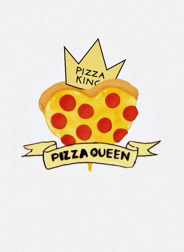 Pizza King Queen Wallpaper I Made This With Some