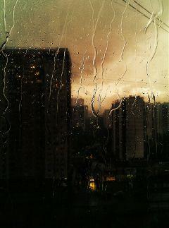 rain summer emotions city
