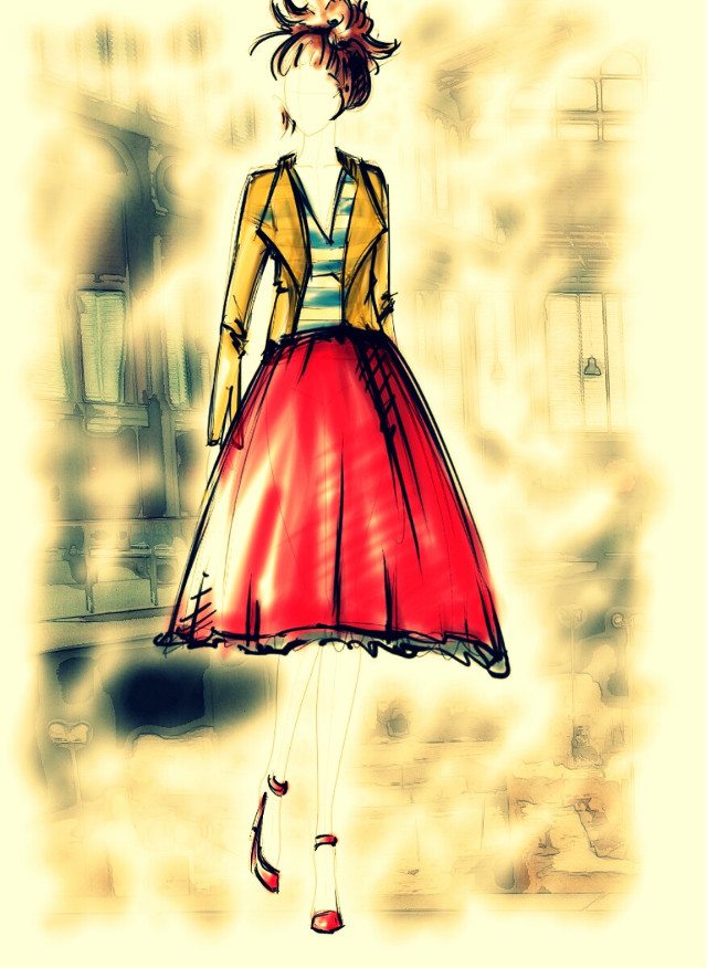 Fashion up! !!!  #pencilart  #retro  #sepia  #travel #fashion#pasandoelrato