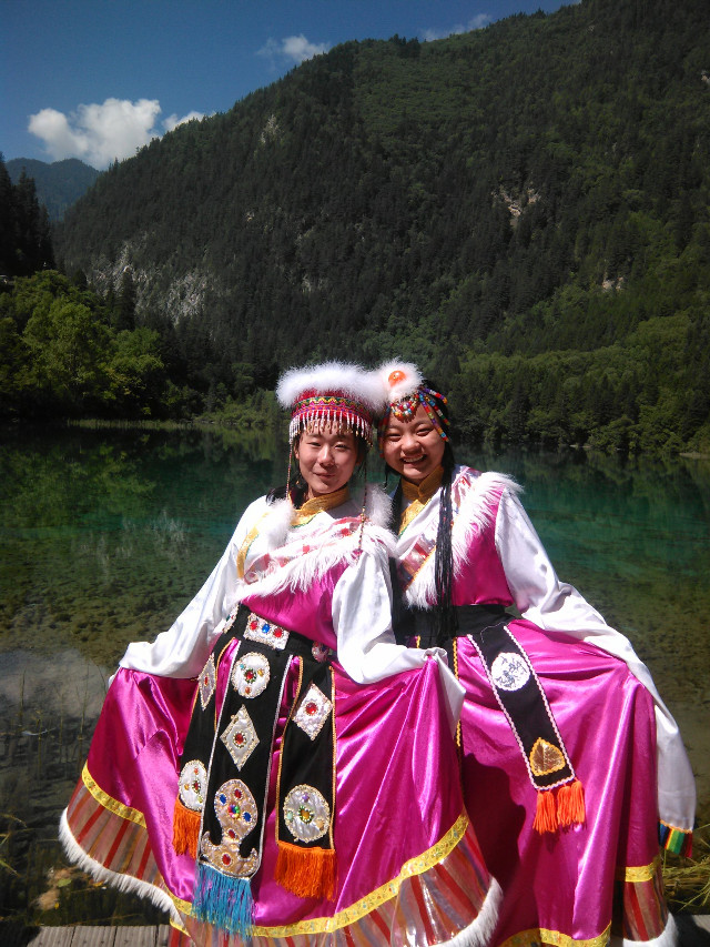 中国藏族姑娘