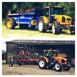 likeforlike repostforrepost tractor renault orange