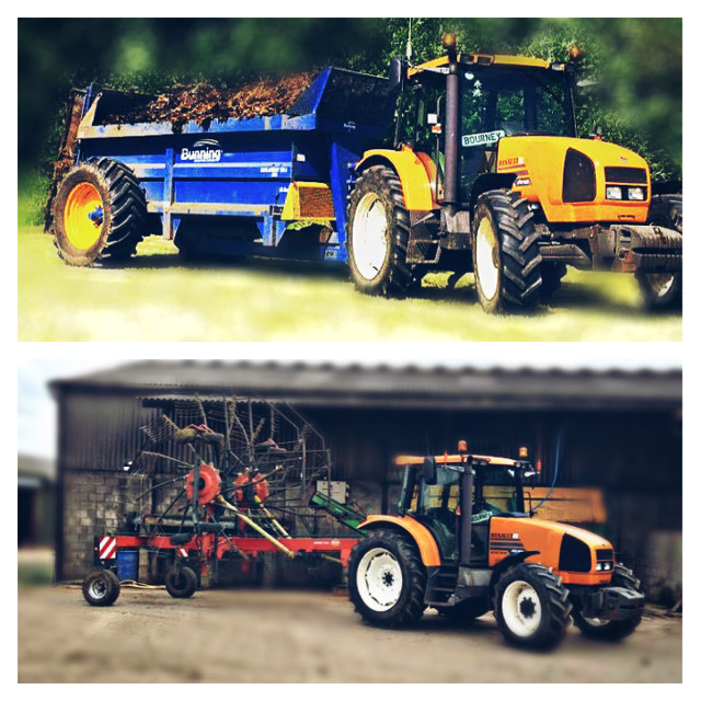 #LIKEFORLIKE #REPOSTFORREPOST #tractor #renault #orange #farmlife #muckspreader #blue #sunny #smiles #countryside #country #lifestyle
