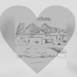 photoshopped coloringbookpage home heart