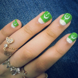 nailart 14august independence day green