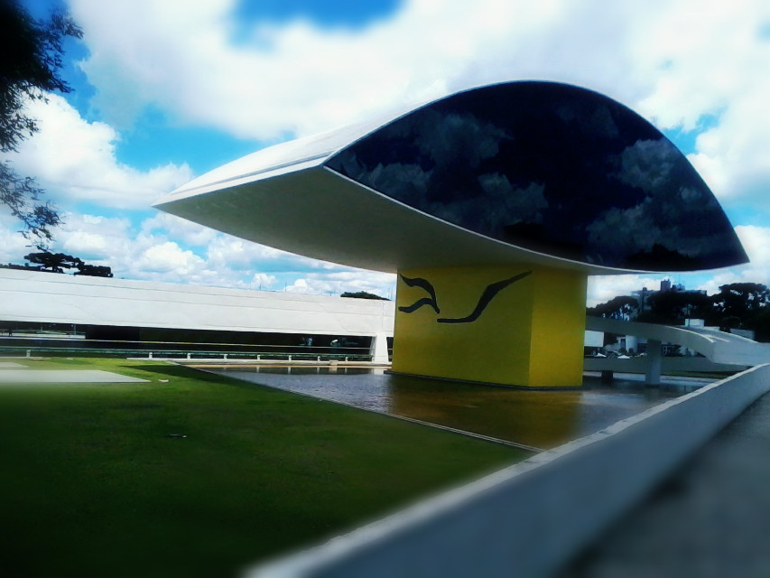 Yes  #Museum #Urban #City  #collage  #emotions   #photography #cute  #Arquitetura  #Architecture  #Curitiba  #Brazil #OscarNiemeyer