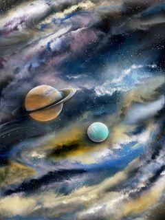 space fantasy painting cloudscape dcouterspace