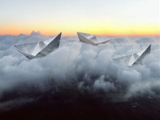 paperships clouds horizon sky photography