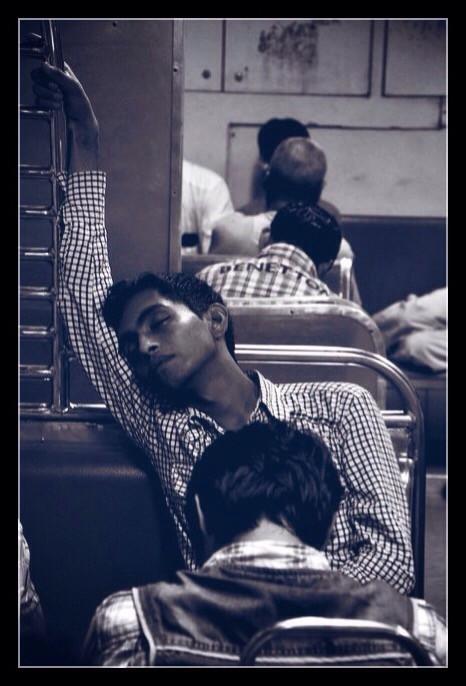 #travel #daily commute #early morning #5am #local train #mumbai #going home #sleep