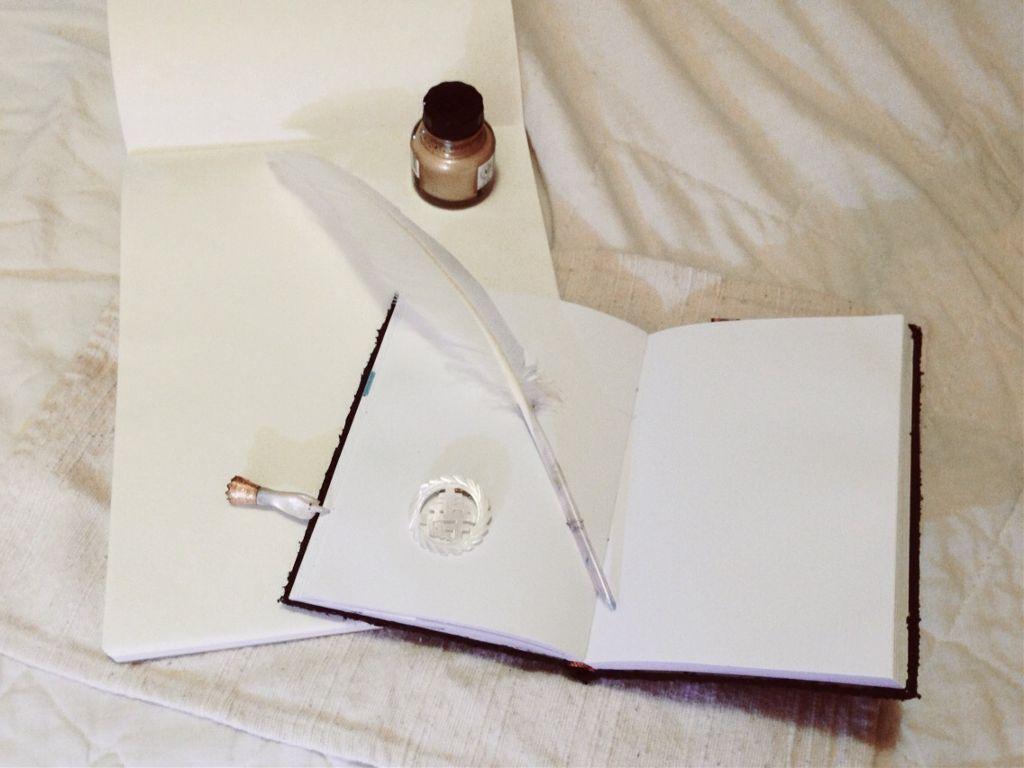Nota Bene  #whiteonwhite #dailyinspiration #seafoameffect #quill #pen #paper #journal #pin #manicule