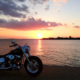beach motorcycl colorful photography