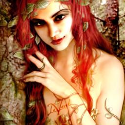 fantasyart me edited selfportrait poisonivy picsarteffects picsartools colorburn