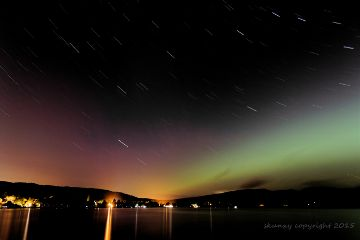 nature aurora scotland love stars